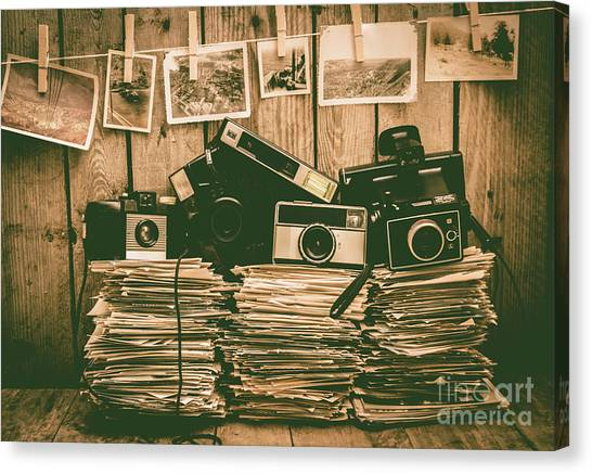 Vintage Camera Canvas Print - The Art Of Film Photography by Jorgo Photography - Wall Art Gallery