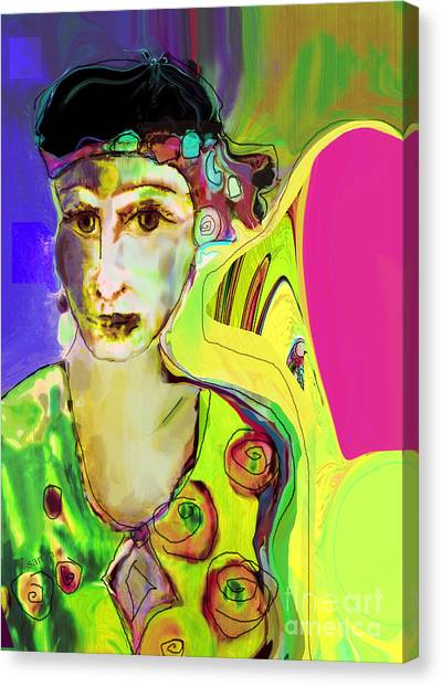 The Artist In Fauve Working Artist Canvas Print