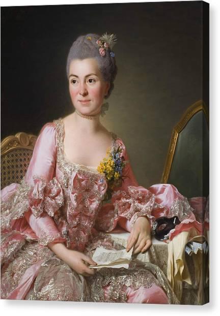 Rococo Art Canvas Print - The Artist Marie Suzanne Giroust by Alexander Roslin