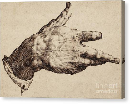 Baroque Canvas Print - The Artist's Right Hand by Hendrik Goltzius