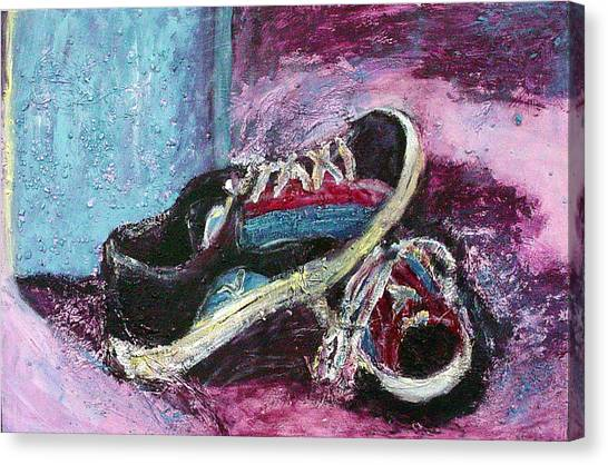 The Artists Shoes Canvas Print
