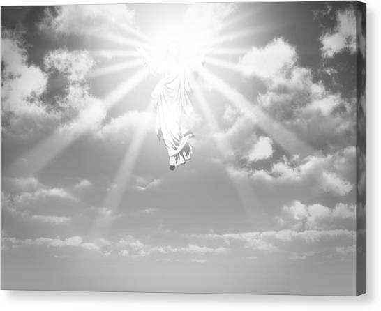 Ascension Canvas Print - The Ascension And Resurrection by Allan Swart