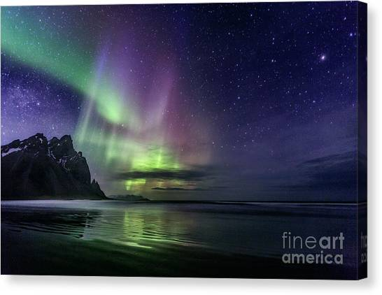 North Shore Canvas Print - The Astral Wake Of Time by Evelina Kremsdorf