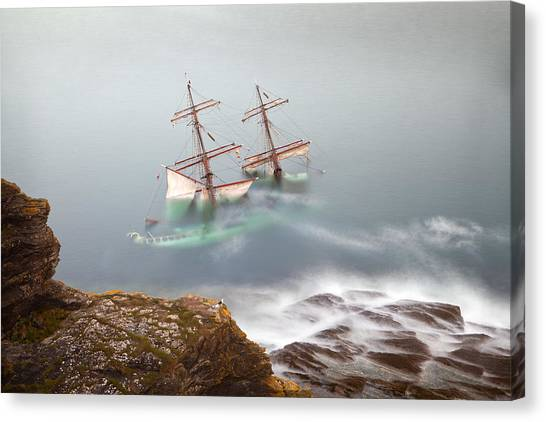 Tall Canvas Print - The Astrid Goes Aground by Alan Mahon