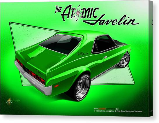 The Atomic Javelin Rear Canvas Print