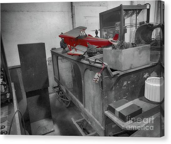 Toy Airplanes Canvas Print - The Auction House  by Steven Digman