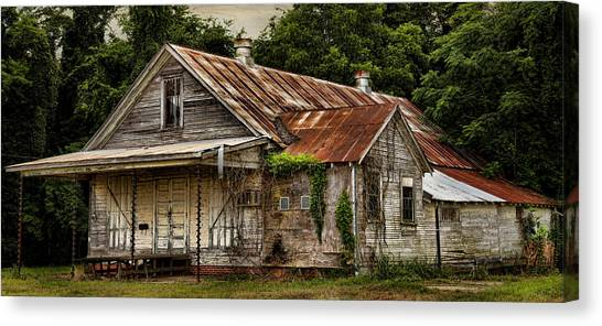 Natchitoches Canvas Print - The Auger Building 2 by Judy Vincent