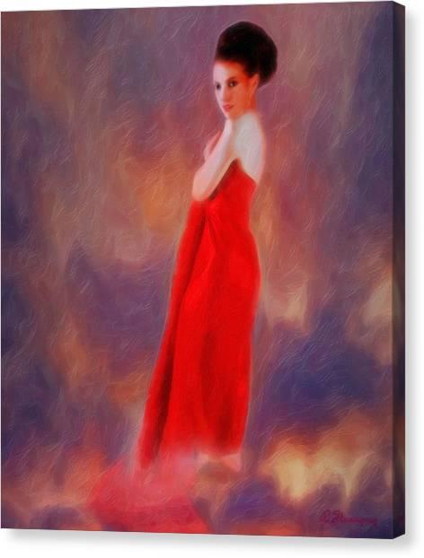 The Aura Of Her World Canvas Print by Richard Hemingway