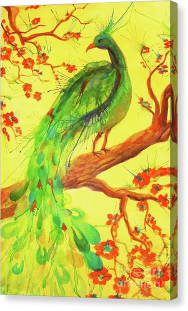 The Auspicious Peacock Canvas Print