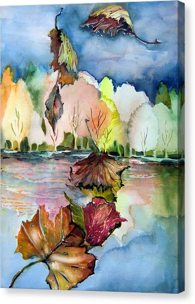 The Autumn Leaves Drift By My Window Canvas Print