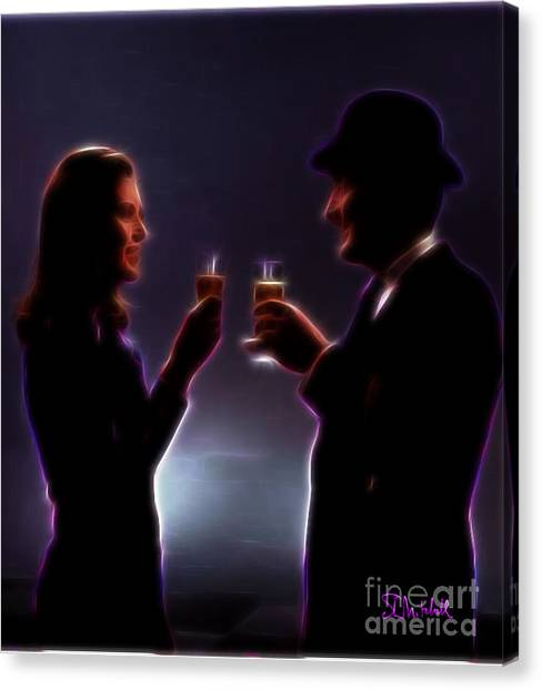 Toasting The Avengers Canvas Print