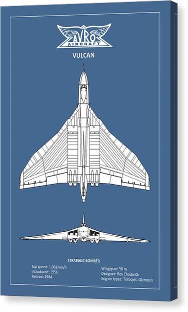Vulcans Canvas Print - The Avro Vulcan by Mark Rogan