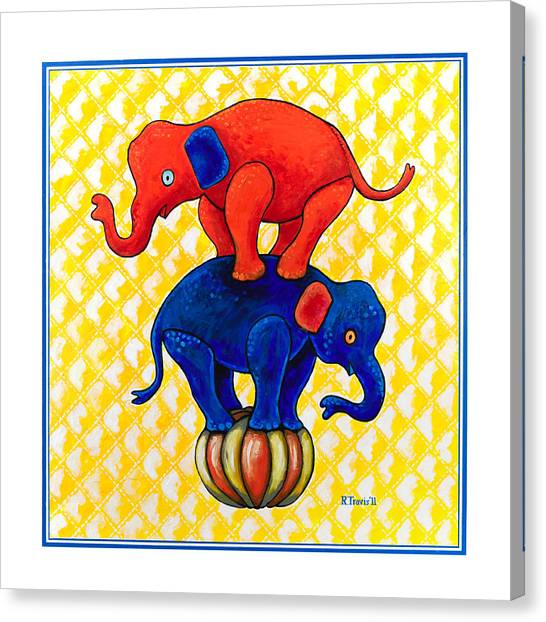 Canvas Print - The Baby Elephants Ball by Rich Travis