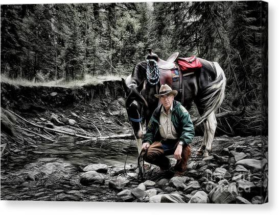 The Back Country Guardian Canvas Print