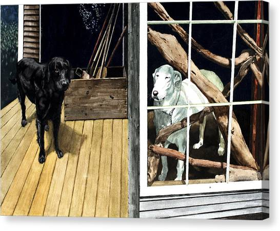 The Back Porch Canvas Print by Perry Woodfin