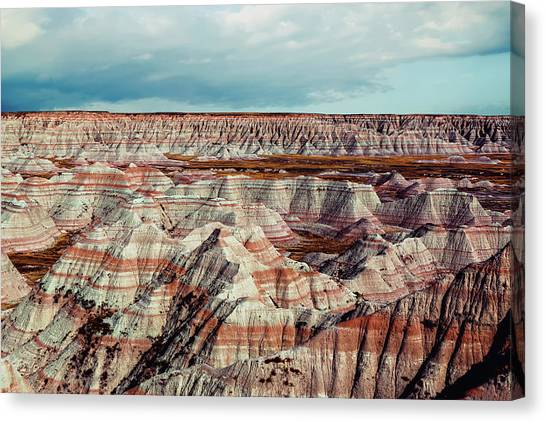 South Dakota Canvas Print - The Badlands Of South Dakota I by Tom Mc Nemar