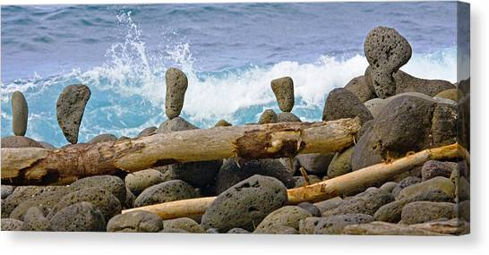 The Balancing Act Canvas Print by Charlie Osborn