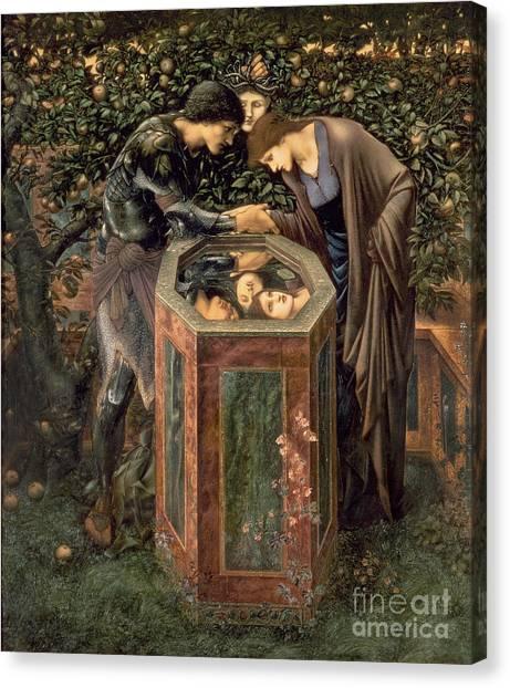 Fruit Trees Canvas Print - The Baleful Head by Sir Edward Burne-Jones
