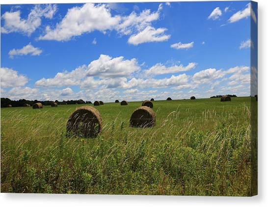 The Bales Of Summer Canvas Print