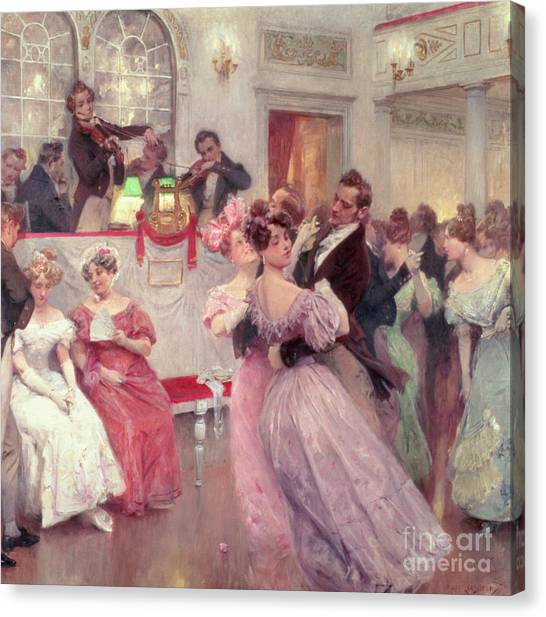 Vienna Canvas Print - The Ball by Charles Wilda