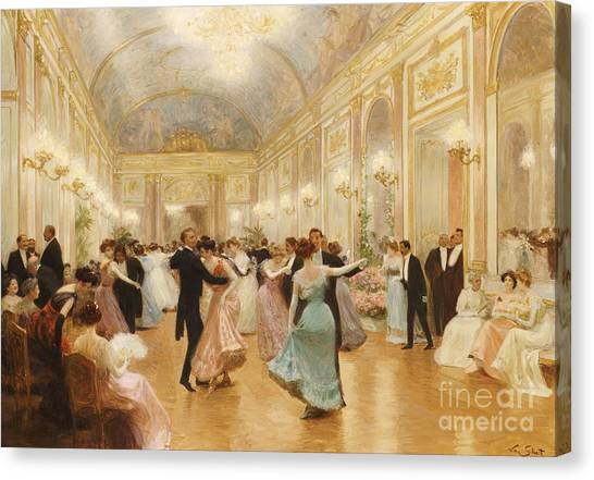 Party Canvas Print - The Ball by Victor Gabriel Gilbert