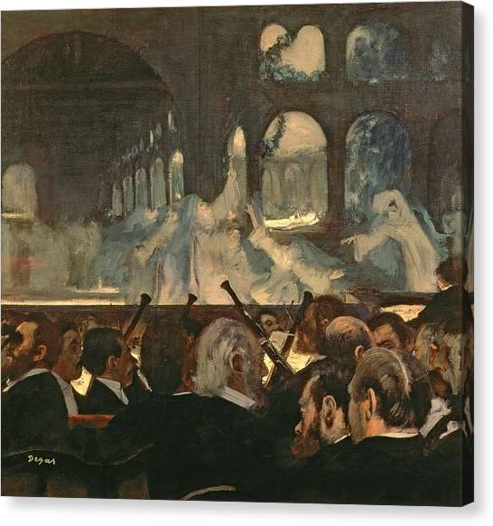 Nuns Canvas Print - The Ballet Scene From Meyerbeer's Opera Robert Le Diable by Edgar Degas