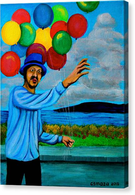 The Balloon Vendor Canvas Print