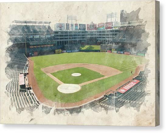 Texas Rangers Canvas Print - The Ballpark by Ricky Barnard