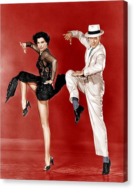 1950s Movies Canvas Print - The Band Wagon, From Left Cyd Charisse by Everett