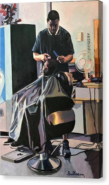 Canvas Print - The Barber by David Buttram