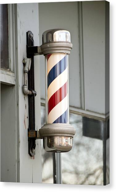 The Barber Shop 4 Canvas Print