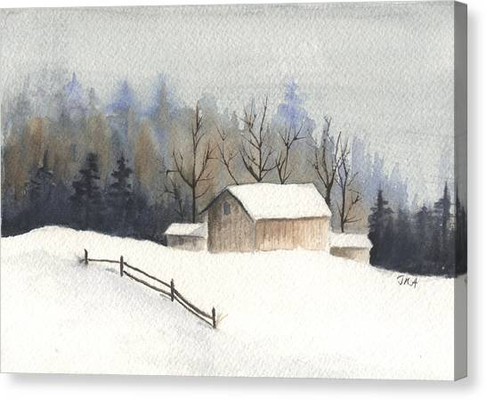 The Barn Canvas Print by Jan Anderson