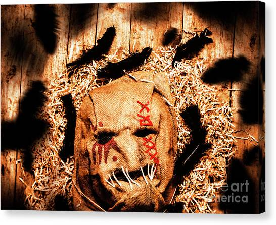 Scarecrows Canvas Print - The Barn Monster by Jorgo Photography - Wall Art Gallery