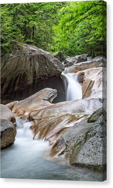 Canvas Print featuring the photograph The Basin Down River by Michael Hubley