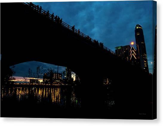 Haunted House Canvas Print - The Bat Bridge Austin Texas by Betsy Knapp