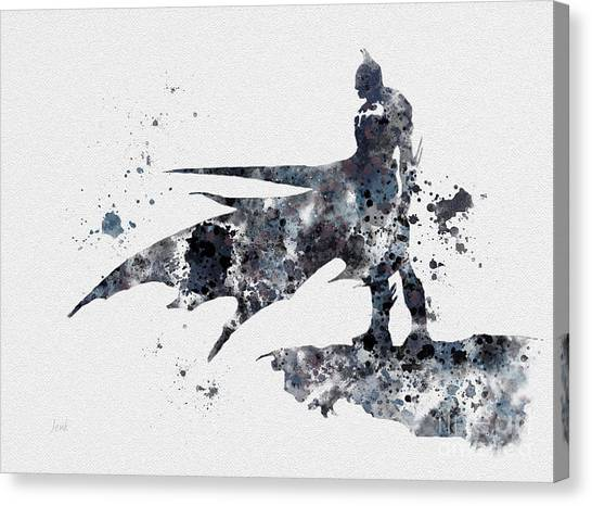 Bat Canvas Print - The Bat by Rebecca Jenkins
