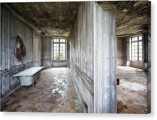 The Bathroom Next Door - Urban Exploration Canvas Print