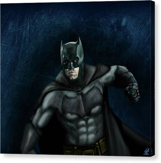 Ben Affleck Canvas Print - The Batman by Vinny John Usuriello
