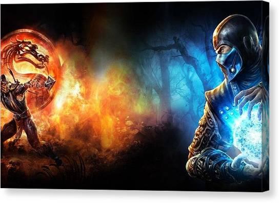 Mortal Kombat Canvas Print - The Battle by James