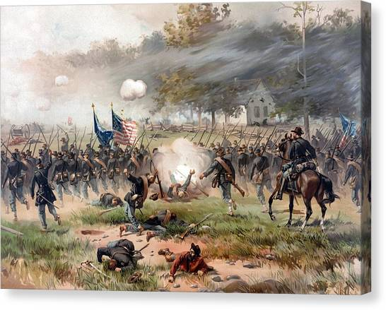 South American Canvas Print - The Battle Of Antietam by War Is Hell Store