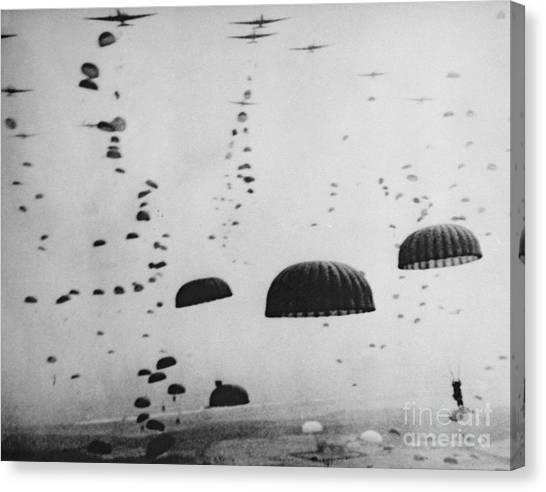 Paratroopers Canvas Print - The Battle Of Arnhem  Operation Market Garden by American School