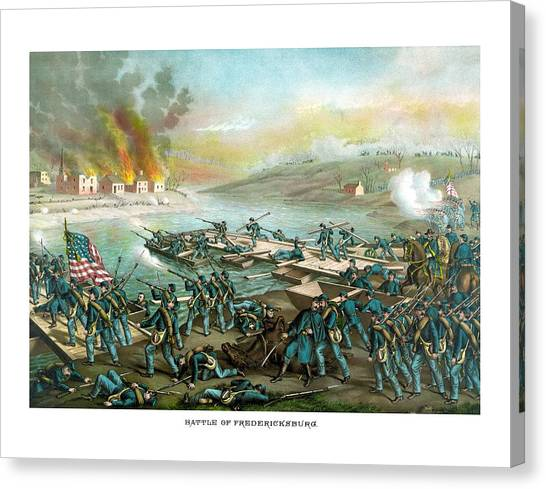 Confederate Canvas Print - The Battle Of Fredericksburg by War Is Hell Store