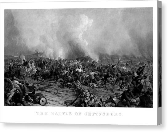 Battle Canvas Print - The Battle Of Gettysburg by War Is Hell Store
