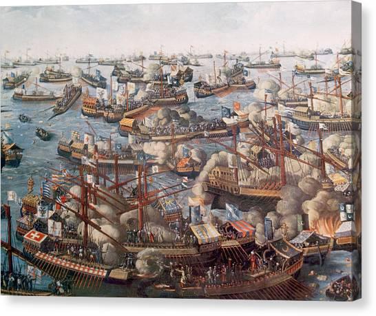 Jt History Canvas Print - The Battle Of Lepanto, The Fleet by Everett