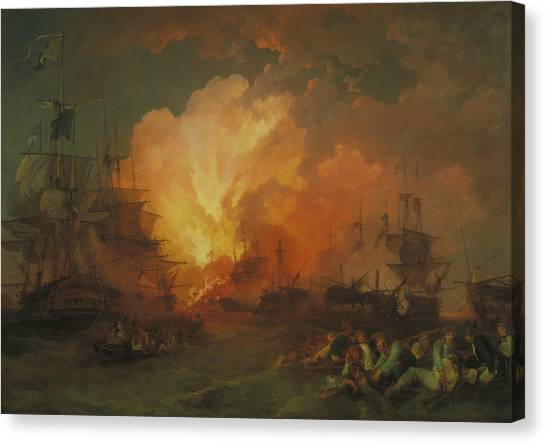 James Franco Canvas Print - The Battle Of The Nile by Treasury Classics Art