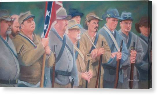 The Battle Of Wilson's Store Canvas Print by Diane Caudle