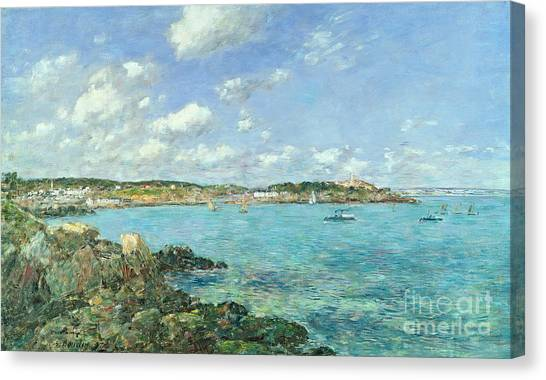 Harbours Canvas Print - The Bay Of Douarnenez by Eugene Louis Boudin