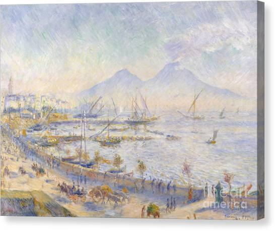 Mount Vesuvius Canvas Print - The Bay Of Naples, 1881 by Pierre Auguste Renoir