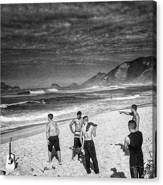 Guitars Canvas Print - The Beach Boys  #beach #sea #boys by Rafa Rivas