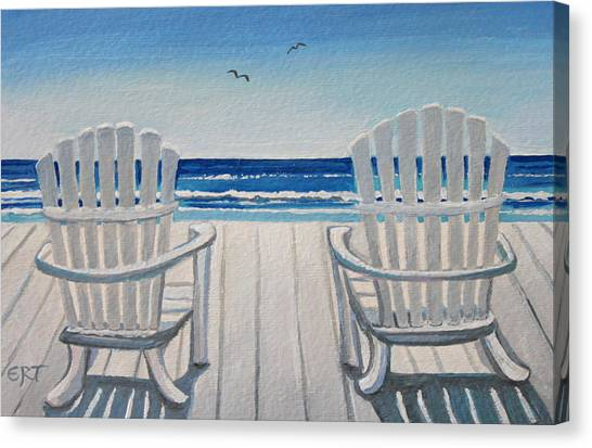 The Beach Chairs Canvas Print